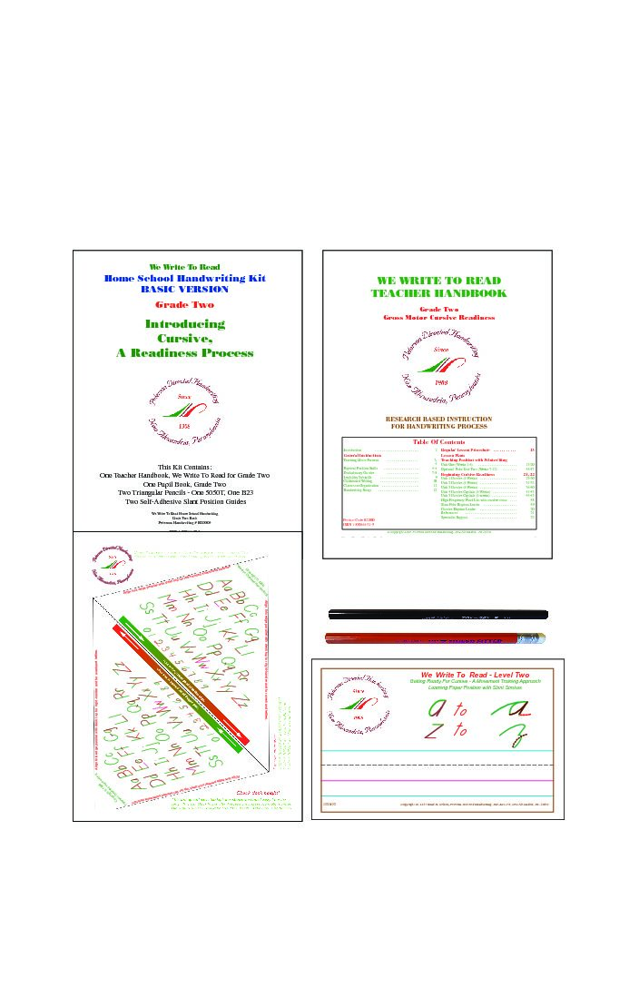 03 - Home School Handwriting Kits